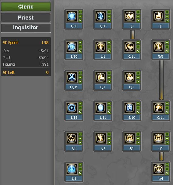dragon nest cleric skill build