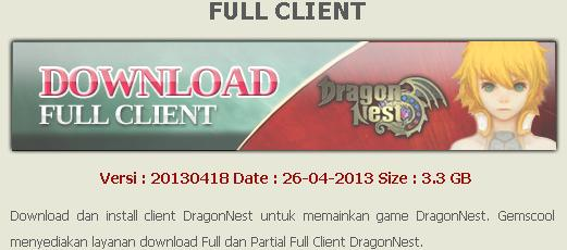 cara download dragon nest