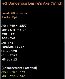 perbandingan equip epic  lv 60 dragon nest indonesia