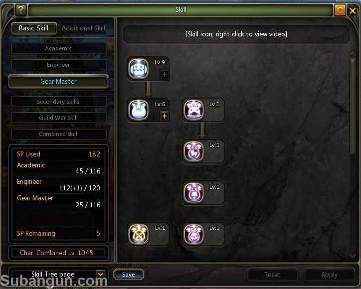 Dragon nest Indonesia Gear master build