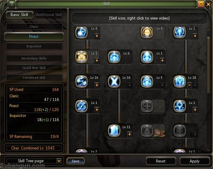 Dragon nest indonesia lv 70 Priest inquisitor skill build