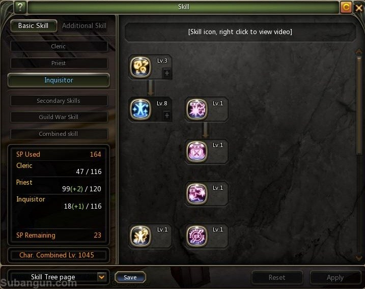 Dragon nest indonesia lv 70 inquisitor skill build