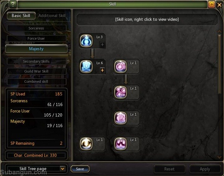 Dragon nest indonesia lv 70 majesty skill build