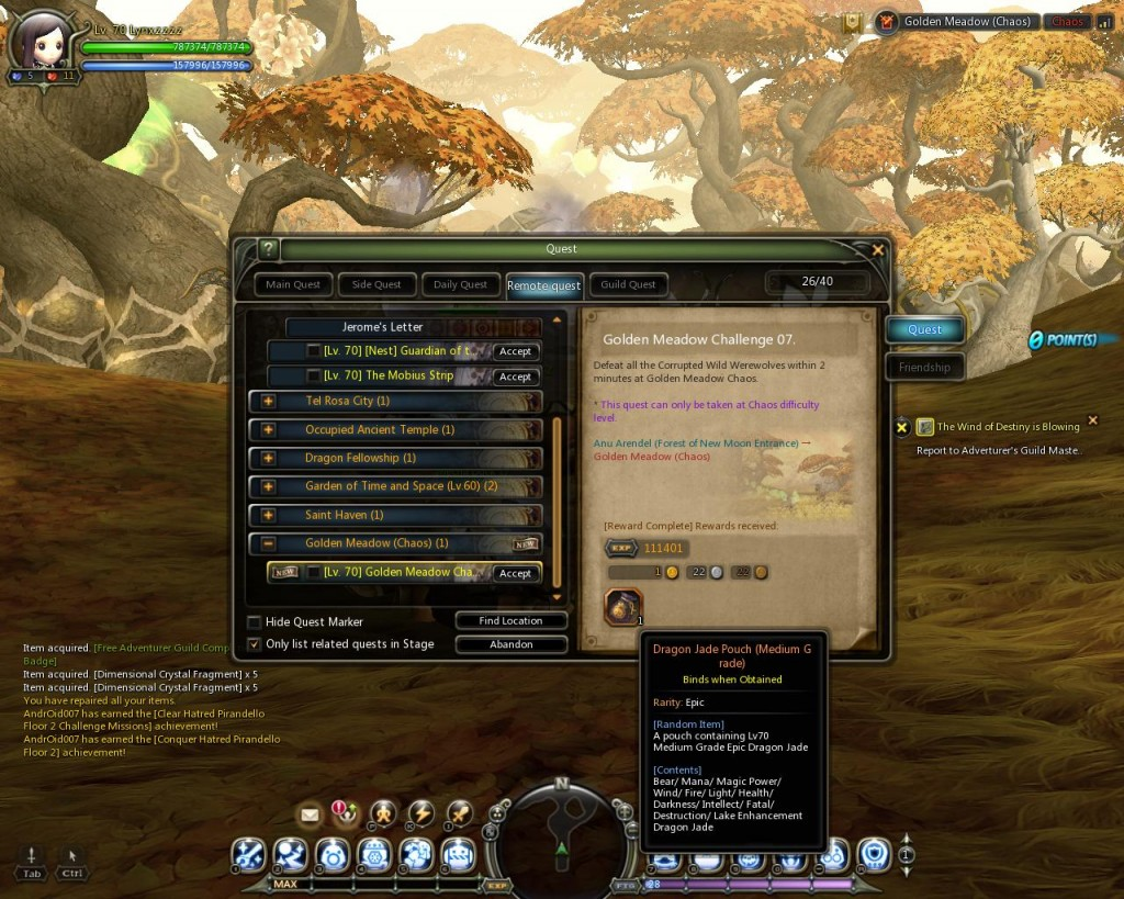 dragon nest Chaos Dungeon Challenge