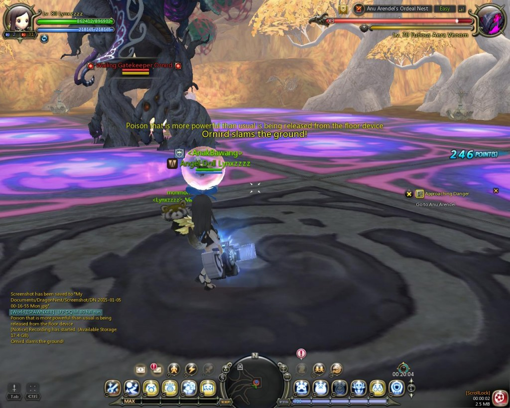 Dragon Nest Indonesia Anu arendel trial nest Stage 2 Venom  Ornid
