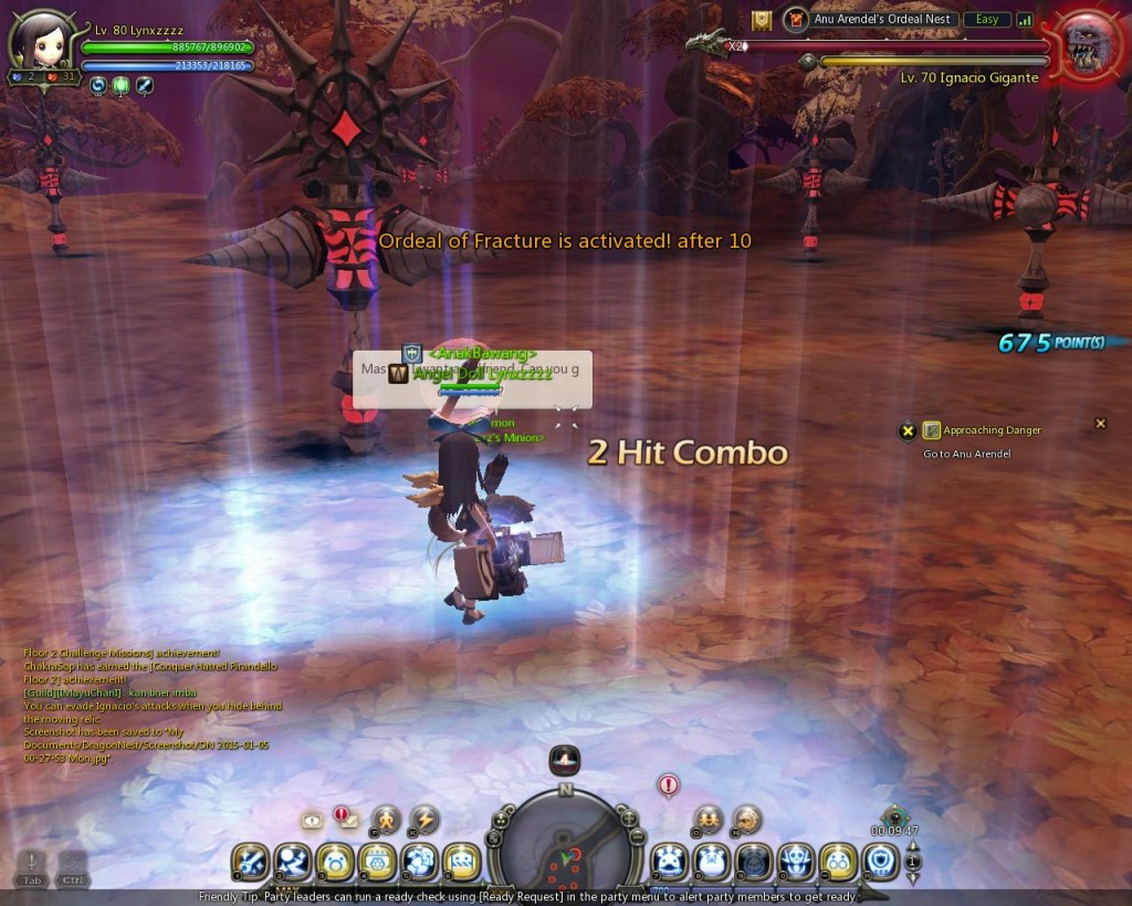Dragon Nest Indonesia Anu arendel trial nest Stage 4 ignacio