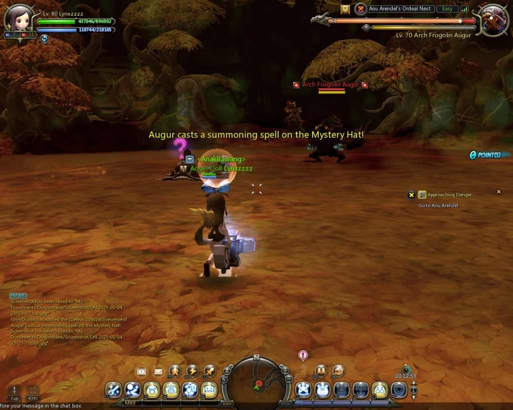 dragon nest anu arendel trial nest Stage 1 Froglin Augur  Gustcry